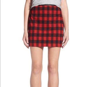 Madewell Bowery Buffalo Check Miniskirt